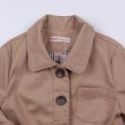 Фото: Плащ на пуговицах с накладными карманами (артикул O 10212-beige) - изображение 5
