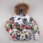Фото: Зимний костюм для девочки с цветочным рисунком (артикул O 70048-flowers) - изображение 5