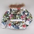 Фото: Зимний костюм для девочки с цветочным рисунком (артикул O 70048-flowers) - изображение 6