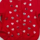 Фото: Легкий кардиган с сердечками (артикул O 20114-red hearts) - изображение 6