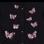 Фото: Кардиган  с бабочками для девочки (артикул O 20115-dark grey) - изображение 6
