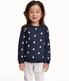 Фото: Свитшот для девочки фирмы H&M (артикул O 20117-dark blue) - изображение 7