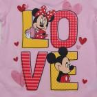 Фото: Футболка Mickey and Minnie Mouse  (артикул O 40115-light pink) - изображение 5