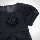 Фото: Платье с брошкой (артикул Z 50020-black) - изображение 6
