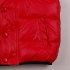 Фото: Жилет дутый красного цвета (артикул O 10117-red1) - изображение 5