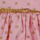 Фото: Платье в горох с золотистым поясом (артикул O 50305-pink) - изображение 6
