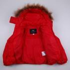 Фото: Зимняя куртка с мехом (артикул O 10255-red) - изображение 8