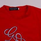 Фото: Яркая футболка с принтом (артикул O 40072-red) - изображение 5