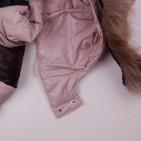 Фото: Зимняя куртка бежевого цвета (артикул O 10267-beige) - изображение 9