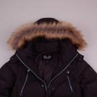Фото: Зимнее пальто с капюшоном (артикул O 10265-black) - изображение 5