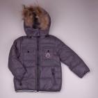 Фото: Зимний костюм с натуральным мехом (артикул O 70050-grey) - изображение 5