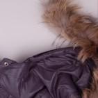 Фото: Зимний костюм с натуральным мехом (артикул O 70050-grey) - изображение 10