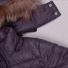 Фото: Зимний костюм с натуральным мехом (артикул O 70050-grey) - изображение 11