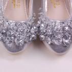 Фото: Туфли королевы Эльзы в серебристом цвете (артикул 1087-silver) - изображение 8