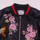 Фото: Модная курточка для девочки с вышивкой (артикул O 10275-flowers) - изображение 5