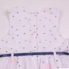 Фото: Белое платье для девочки с модным рисунком (артикул O 50326-white) - изображение 6