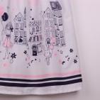 Фото: Белое платье для девочки с модным рисунком (артикул O 50326-white) - изображение 7