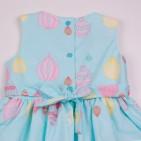 Фото: Красивое платье для девочки с принтом парашютов (артикул O 50322-azure) - изображение 6