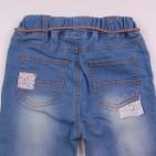 Фото: Стильные детские джинсы с отделкой вышивкой и подворотами (артикул Z 60263-jeans) - изображение 6