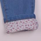 Фото: Стильные детские джинсы с отделкой вышивкой и подворотами (артикул Z 60263-jeans) - изображение 7