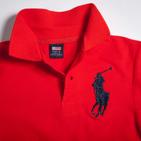Фото: Детская футболка поло красного цвета (артикул RL 40001-red) - изображение 5