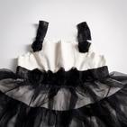Фото: Платье с многослойной юбкой (артикул O 50023-white-black) - изображение 6