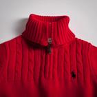 Фото: Свитер с молнией на воротнике (артикул RL 20023-red) - изображение 6
