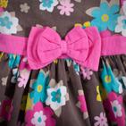 Фото: Платье вельветовое (артикул Z 50030-flowers) - изображение 5