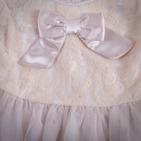 Фото: Платье гипюровое с бантом (артикул Z 50031-beige) - изображение 5
