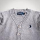 Фото: Серый детский кардиган на пуговичках (артикул RL 20001-grey) - изображение 5