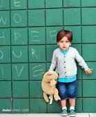 Фото: Серый детский кардиган на пуговичках (артикул RL 20001-grey) - изображение 6
