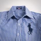 Фото: Рубашка в крупную полоску  (артикул RL 30009-blue) - изображение 5