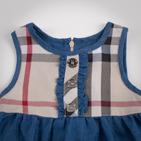 Фото: Платье с джинсовой юбкой (артикул B 50042-jeans beige) - изображение 5