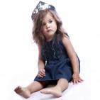 Фото: Платье с джинсовой юбкой (артикул B 50042-jeans beige) - изображение 6