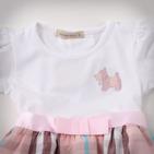 Фото: Платье с юбкой в светло-розовую клетку (артикул B 50034-light pink) - изображение 5