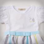 Фото: Детское платье с юбкой в клетку (артикул B 50034-light blue) - изображение 5