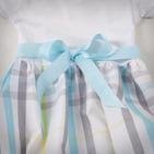 Фото: Детское платье с юбкой в клетку (артикул B 50034-light blue) - изображение 6