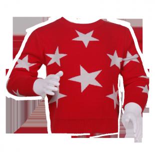 Детский брендовый свитер с рисунком звезд