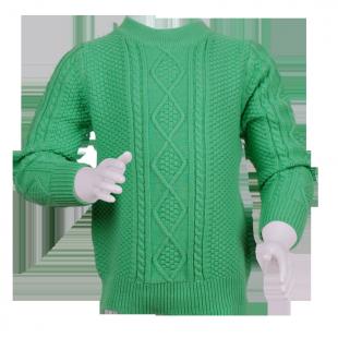 Брендовый свитер с крупной вязкой