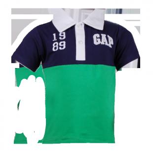 . Футболка фирменная с воротником и логотипом