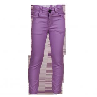. Зауженные брюки лилового цвета