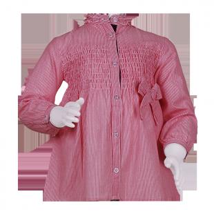 Рубашка-туника в тонкую полоску