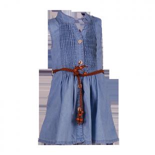 Сарафан джинсовый с плетеным поясом