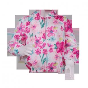 . Ветровка с цветами для девочки