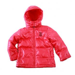 Красный детский пуховик