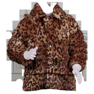 . Шубка леопардовая