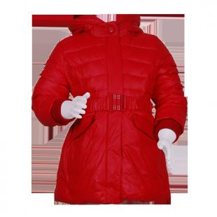 Пальто приталенное с капюшоном.