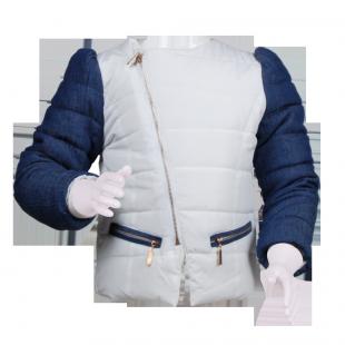Куртка с джинсовыми рукавами