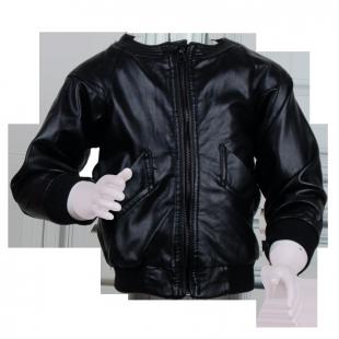 Куртка кожаная с латками на локтях