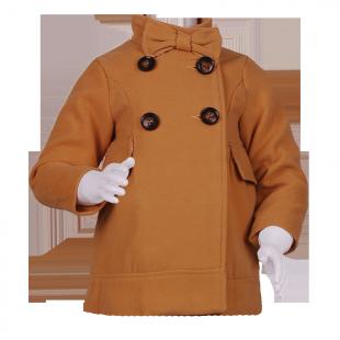Пальто с бантом на воротнике